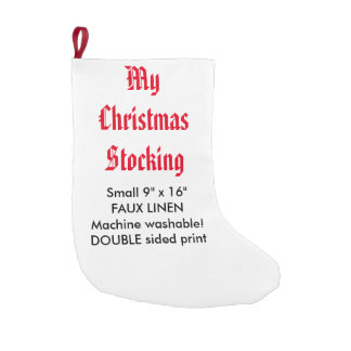 "My Custom Faux Linen Christmas Stocking 9""x16"" 2-S Small Christmas Stocking"