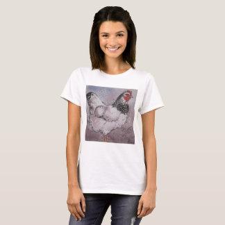My cute hen Women's Basic T-Shirt, White T-Shirt