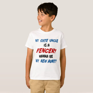 My cute uncle is a fencer! T shirt for kids.