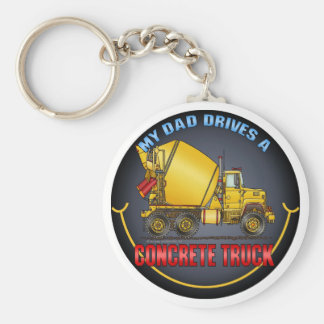 My Dad Drives A Concrete Truck Key Chain