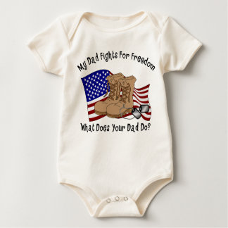 My Dad Fights For Freedom Baby Bodysuit