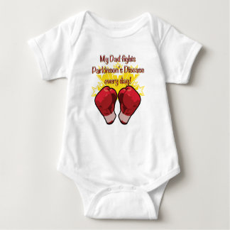 My Dad fights PD every day! Baby Bodysuit