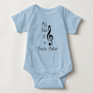 My dad is a Musician Baby Bodysuit