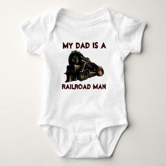 My Dad Is A Railroad Man Baby Bodysuit