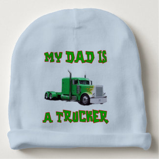 My Dad is a Trucker Baby Hat Baby Beanie