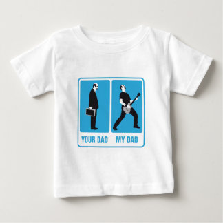 my dad is more coolly than your dad rock guitar mo baby T-Shirt