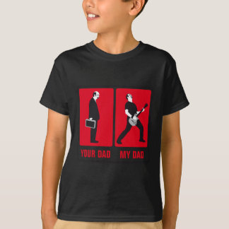 my dad is more coolly than your dad rock guitar T-Shirt