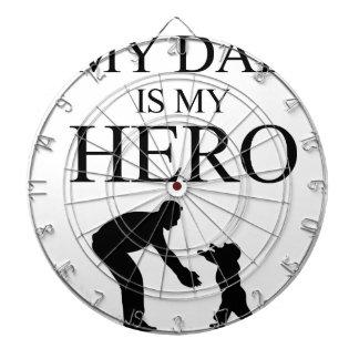 My Dad Is My Hero Dartboard