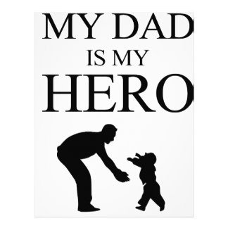 My Dad Is My Hero Letterhead