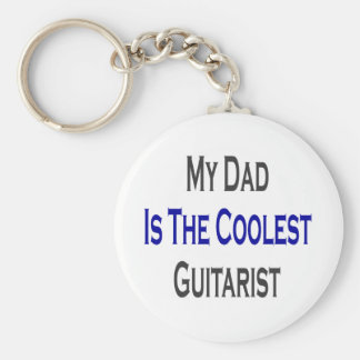 My Dad Is The Coolest Guitarist Keychain