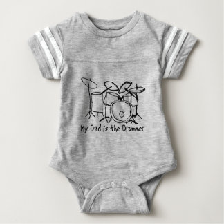 My Dad is the Drummer Baby Bodysuit
