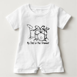 My Dad is the Drummer Baby Romper