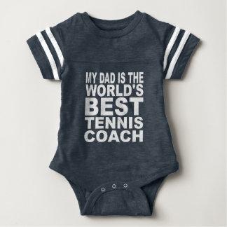 My Dad Is The World's Best Tennis Coach Baby Bodysuit