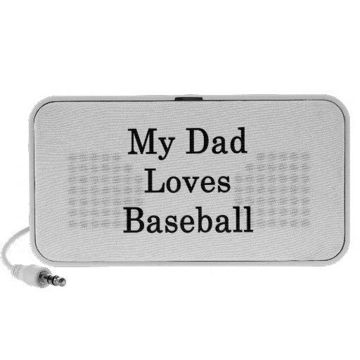 My Dad Loves Baseball iPod Speaker