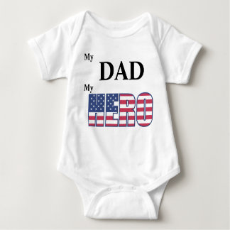 My DAD My Hero - Customizable Baby Bodysuit