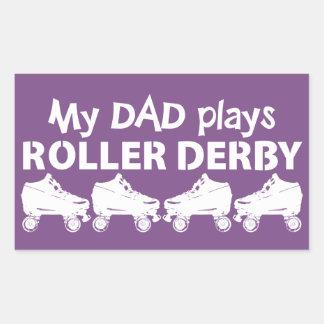 My Dad plays Roller Derby, Roller Skating Sticker