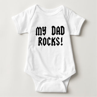My Dad Rocks Baby Bodysuit
