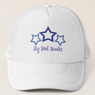 My Dad Rocks Trucker Hat