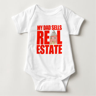 My Dad Sells Real Estate Baby Bodysuit