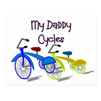 My Daddy Cycles--Kids Biking T-shirts Postcard