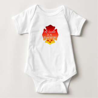 My Daddy Is A Firefighter Baby Bodysuit