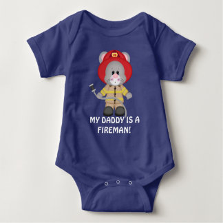 My Daddy is a fireman baby bodysuit