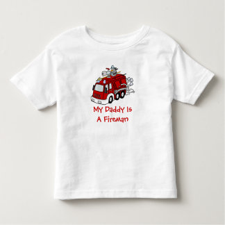 MY DADDY IS A FIREMAN Kids Red Fire truck Toddler T-shirt
