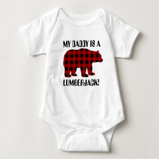 My Daddy is a lumberjack unisex baby t-shirt