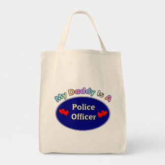 My Daddy Is A Police Officer Grocery Tote Bag
