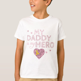 My Daddy is my Hero - Pink Camo - T-Shirt