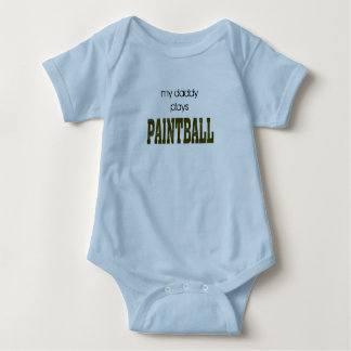 my daddy plays paintball baby bodysuit