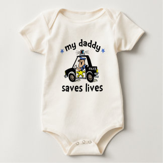 My Daddy Saves Lives Baby Bodysuit