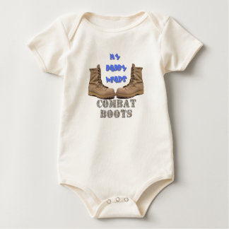 MY DADDY WEARS COMBAT BOOTS BABY BODYSUIT