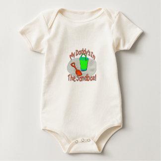 My Daddy's In The Sandbox! Baby Bodysuits