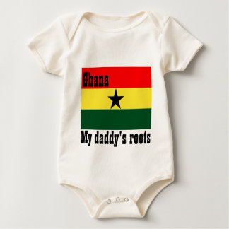 My daddy's roots ghana baby baby bodysuit
