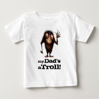 My Dad's a Troll - Funny Kid's Father's Day Tee Shirts