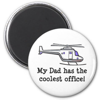 My Dad's Cool Helicopter Fridge Magnets