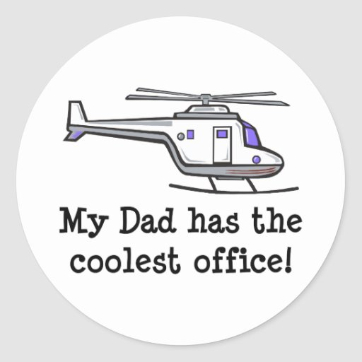 My Dad's Cool Helicopter Sticker