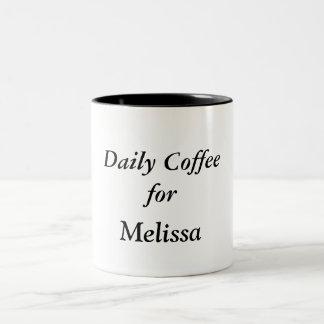 My Daily Coffee mug black & white