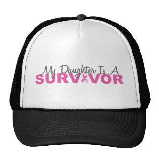 My Daughter Is A Survivor (Pink Ribbon) Trucker Hat