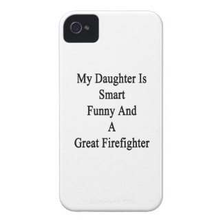 My Daughter Is Smart Funny And A Great Firefighter Case-Mate iPhone 4 Cases