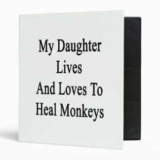 My Daughter Lives And Loves To Heal Monkeys Binder