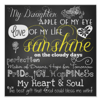 My Daughter Love and Inspiration Poster
