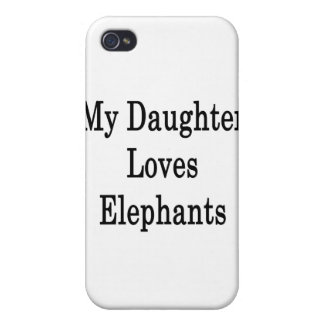 My Daughter Loves Elephants Cover For iPhone 4