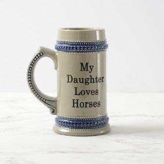 My Daughter Loves Horses Beer Stein
