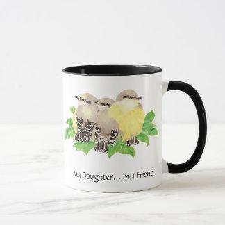My Daughter... my Friend- cuddling Birds Mug