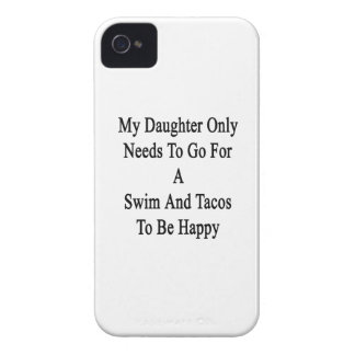 My Daughter Only Needs To Go For A Swim And Tacos iPhone 4 Case-Mate Cases