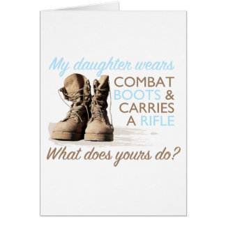 My Daughter Wears Combat Boots Card