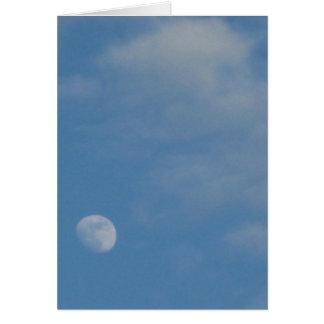 My Daytime Moon - Custom Portrait Greeting Card