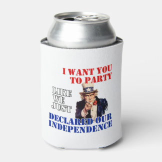 My Declaration July 4th Beverage Can Cooler